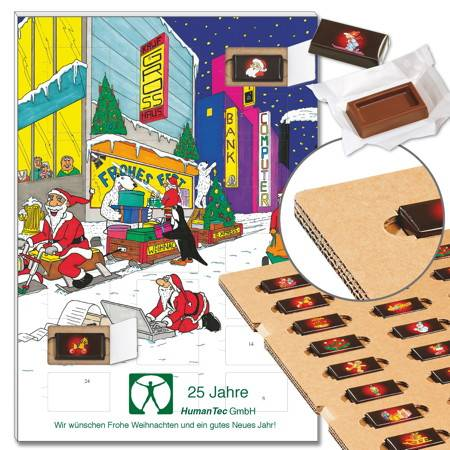 "Schoko-Adventskalender ""City"" mit ECO-Tray"