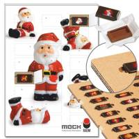 "Schoko-Adventskalender ""Nikolaus-Party"" mit ECO-Tray"