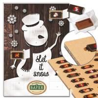 "Schoko-Adventskalender ""Let it Snow"" mit ECO-Tray"