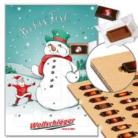 "Schoko-Adventskalender ""Handsome Snowman"" mit ECO-Tray"